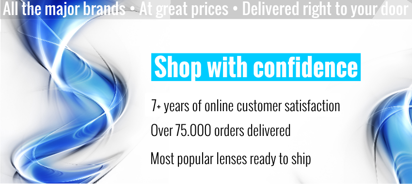 Buy contact lenses with confidence - 10 years of online customer satisfaction