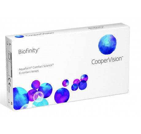 Biofinity (6) contact lenses from the manufacturer CooperVision in category Optica Iberica