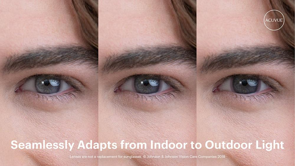 Acuvue Oasys with Transitions - Photochromic contact lenses that darken automatically